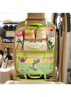 Multifunction Popular Cartoon Dinosaur Style Creative Car Backseat Organizer