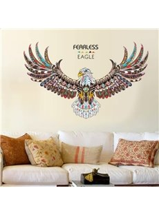 Awesome Colorful Eagle Pattern Home Decorative Removable Wall Stickers