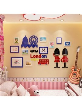 Lovely Cute European Style London Design Home Decorative 3D Wall Stickers