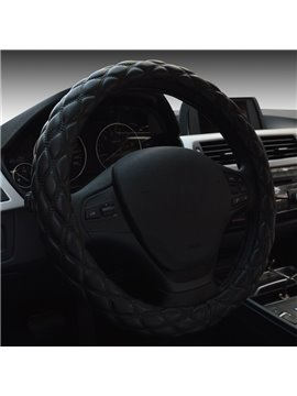 Comfortable Check Lines Pattern Design Medium Car Steering Wheel Cover