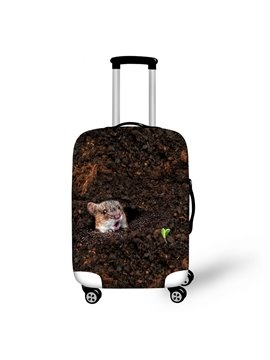 Rat in Soil Pattern 3D Painted Luggage Protect Cover
