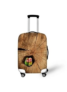 Two Parrots in Tree Hole Pattern 3D Painted Luggage Protect Cover