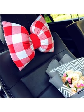 Charming Bow Design Red Box Style Popular Car Headrest Pillow