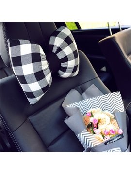 Fashion Bow Style Design Beautiful Car Headrest Pillow