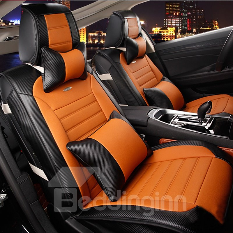 high grade microfiber leather mash up durable universal five car seat cover. Black Bedroom Furniture Sets. Home Design Ideas