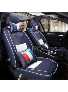 High-Grade Fresh Color Mash Up Style Universal Leather Material Car Seat Cover