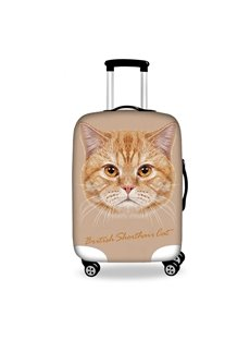 Cute Cat Denim Pattern 3D Painted Luggage Protect Cover