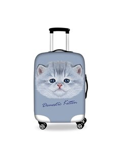 lovely Fat Cat Pattern 3D Painted Luggage Protect Cover