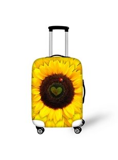 Bright Sunflower Pattern 3D Painted Luggage Protect Cover