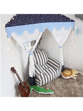 Lovely Softy Cartoon Penguin Pattern Sky Blue Baby Kids Blanket