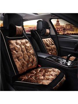 Luxurious Special Contrast Color Design Super Soft Universal Five Car Seat Cover