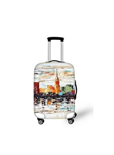 Oil Style Landscape Pattern 3D Painted Luggage Protect Cover