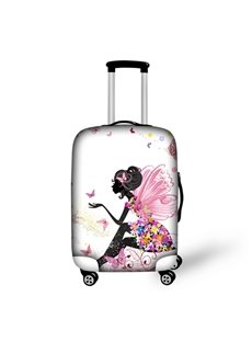 Beautiful Butterfly Girl Pattern 3D Painted Luggage Protect Cover