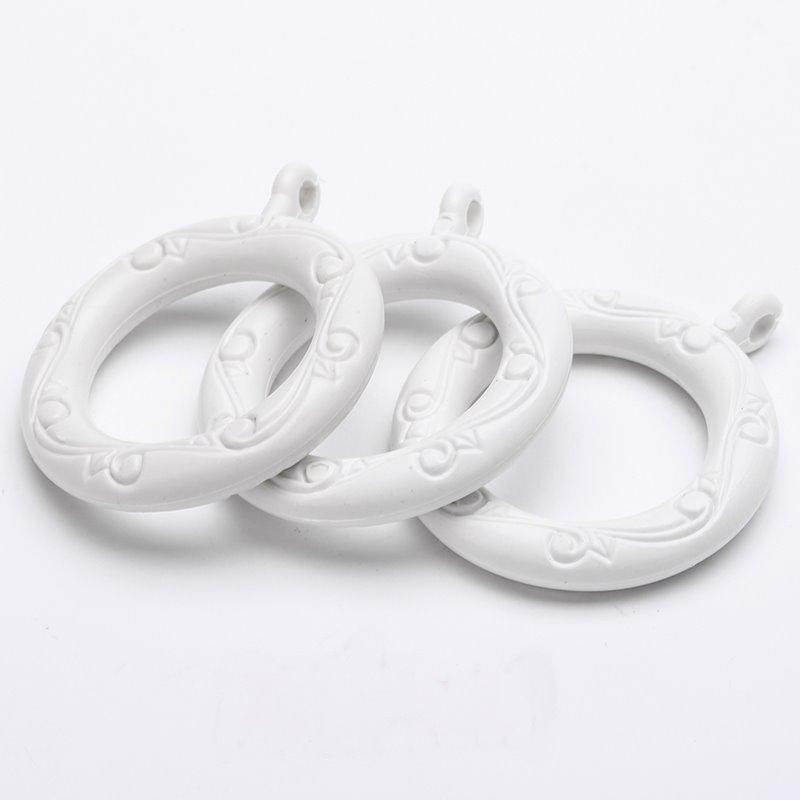 24 pack white 1 1 2 inchs plastic curtain eyelet rings