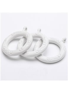 24-Pack White 1-1/2-Inchs Plastic Curtain Eyelet Rings