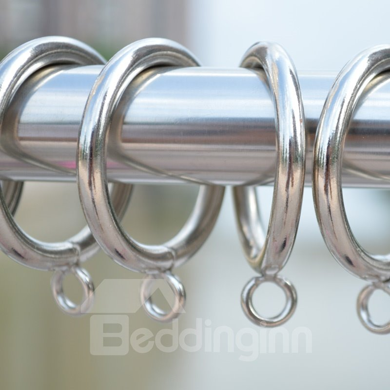 Image of 30-Pack Sliver Color 1.7-Inch Metal Curtain Eyelet Rings