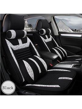 Super Good Permeability Fashion Contrast Color Easy Clean Universal Five Car Seat Cover