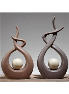 Charming Ceramic Creative Design 2 Pieces Desktop Decorations