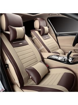Cost-Effective PU Material Durable Contrast Color Fashion Design Universal Five Car Seat Cover