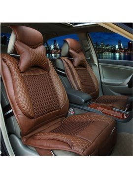 New Luxury Durable PU Leather Material Fashion Universal Five Car Seat Cover