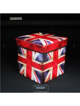 Cool British Flag Pattern Design High Capacity Cube Car Trunk Organizer