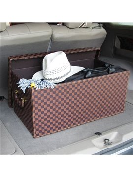 Super Big Enough Capacity Durable PU Leather Material Fashion Car Trunk Organizer