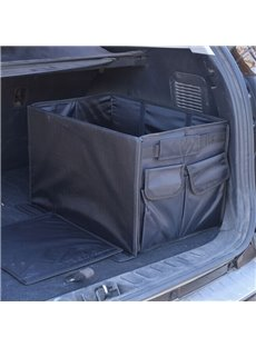 Durable Oxford Cloth Material With High Capacity Multiple Pockets Black Car Organizer