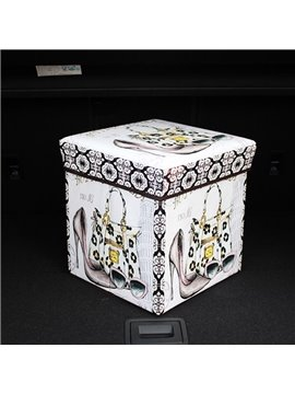 High Capacity Cube Design With Fashion Decoration Pattern Car Trunk Organizer