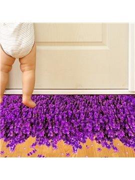 Purple Lavender Print Home Decorative 3D Floor Stickers