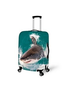 Cool Shark Pattern 3D Painted Luggage Cover