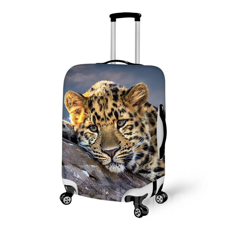 Fashion Leopard Pattern 3D Painted Luggage Cover 12720262