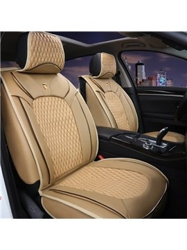 Genuine Leather Luxury Textured Durable Universal Five Car Seat Cover