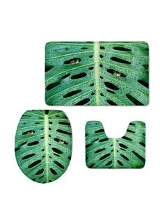 Frog Stuck Head From Banana Leaf 3D Printing 3-Pieces Toilet Seat Cover