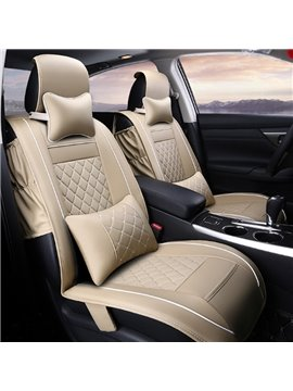 Luxury Textured Durable PU Material Cost-Effective Universal Five Car Seat Cover