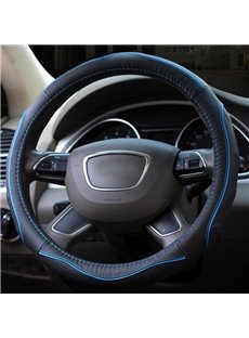 Sport And Business Mixing Design Fashion Lines Durable PU Material Medium Car Steering Wheel Cover