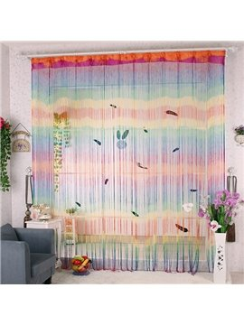 112-Inches Length Rainbow Color Custom String Curtain