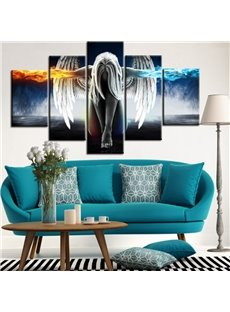 Creative Modern Angel Wings Pattern 5 Panels None Framed Wall Art Prints