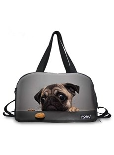 lovely Shar Pei Pattern 3D Painted Travel Bag
