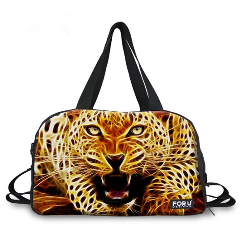 Fashion Leopard Pattern 3D Painted Travel Bag 12722192