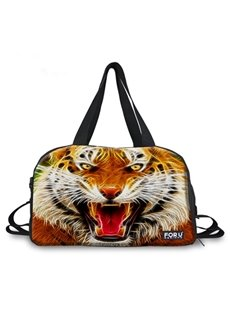 Super Cool Tiger Face Pattern 3D Painted Travel Bag