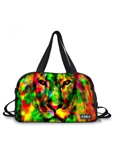 Colorful Cool Lion Pattern 3D Painted Travel Bag
