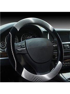 New Fashion Cool White 3D Effect Design Medium Car Steering Wheel Cover