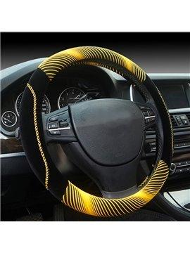 New Fashion Cool Yellow 3D Effect Design Medium Car Steering Wheel Cover