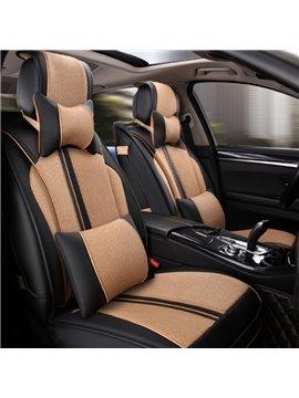 Tough Soft Material Fashion Contrast Color Design Universal Five Car Seat Cover