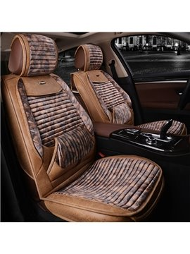 Classic Contrast-Color Business Luxury High-Grade Material Cost-Effective Universal Five Car Seat Cover