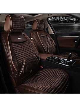 Classic Coffee Color Business Luxury High-Grade Material Cost-Effective Universal Five Car Seat Cover