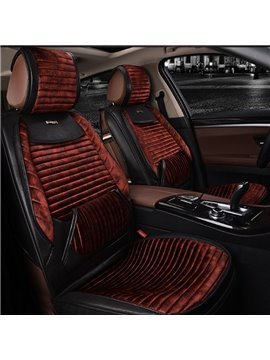 Luxurious Durable Mixing Material Textured High-Grade Five Universal Car Seat Cover