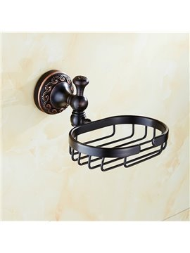 Contemporary Wall Mounted Black Copper Soap Holder