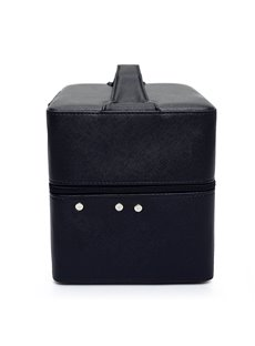 Black 3-Layer PU Travel Cosmetic Bags with Zipper
