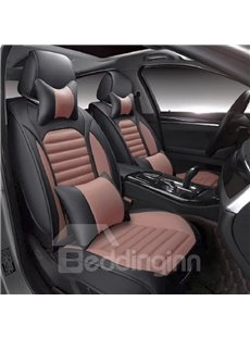 New Black And Orange Bright Color Design Durable PU Leather Material Car Seat Cover